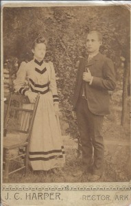 Couple photographed by J.C. Harper, Rector, Arkansas
