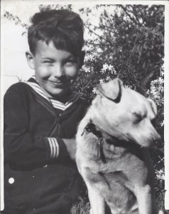 Donald Durley Dean with dog