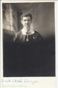 Photo purchased at KC flea market labeled Sarah (Peal) Barger